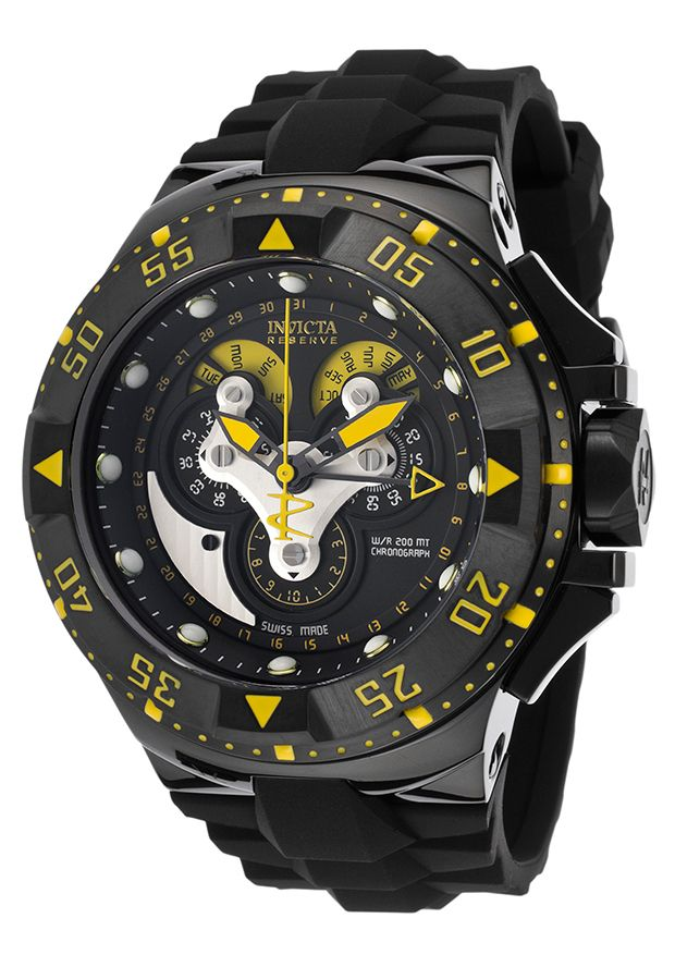 fba88b56464 Image for Men s Excursion Reserve Chrono Black Polyurethane and Dial from  World of Watches · OutubroRelógio ...
