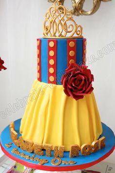 bolo da branca de neve decorado