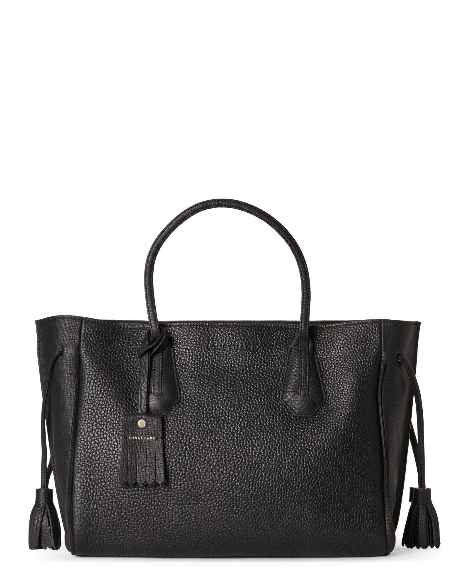 b01f21f9a7e3 Longchamp Black Pénélope Medium Tote Longchamp Black