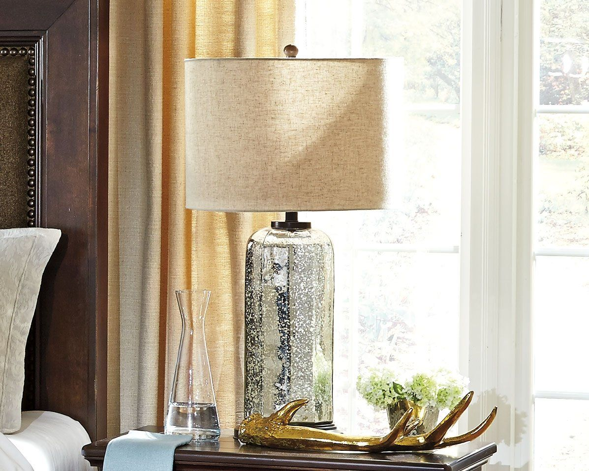 Signature Design By Ashley L430084 Glass Table Lamp Silver Finish Details Can Be Found By Clicking On The Image This Is Glass Table Lamp Lamp Table Lamp
