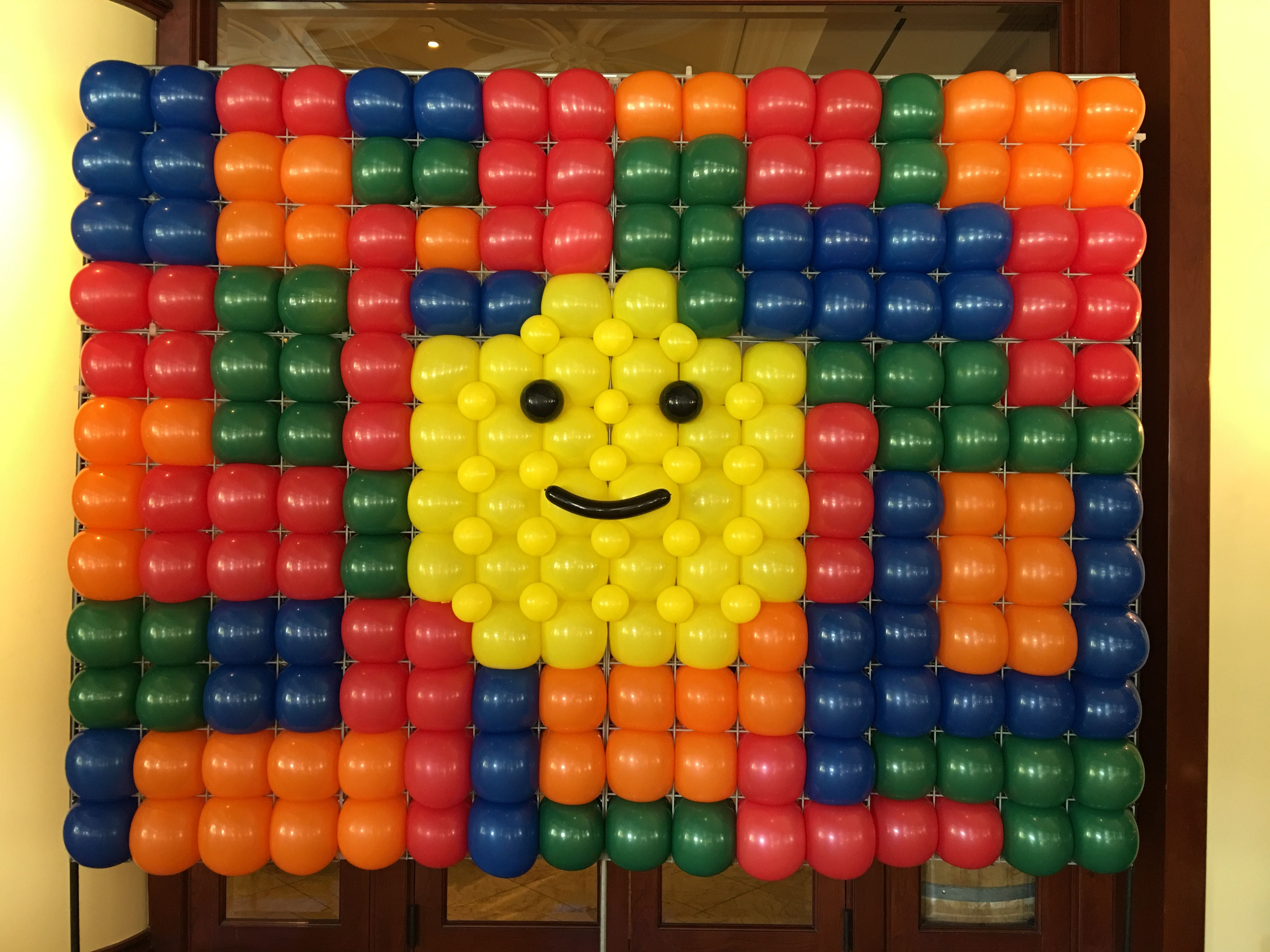 Themed Or Logo Walls Are Our Specialty If You Imagine It We Can Create It Lego Legoballoons Balloondecor Lego Balloons Balloon Decorations Balloon Wall