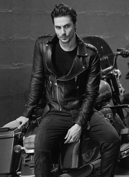 leather biker jacket fashion schwarzes leder. Black Bedroom Furniture Sets. Home Design Ideas