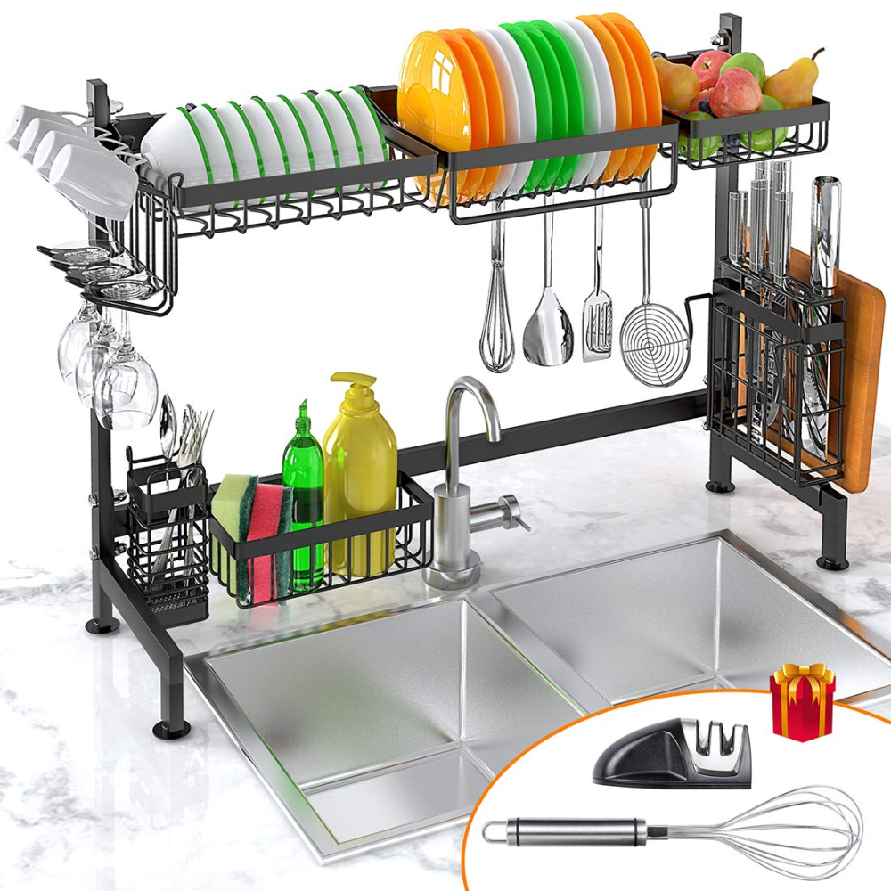 Amazon Com Dish Drying Rack Over Sink Ibesi Stainless Steel