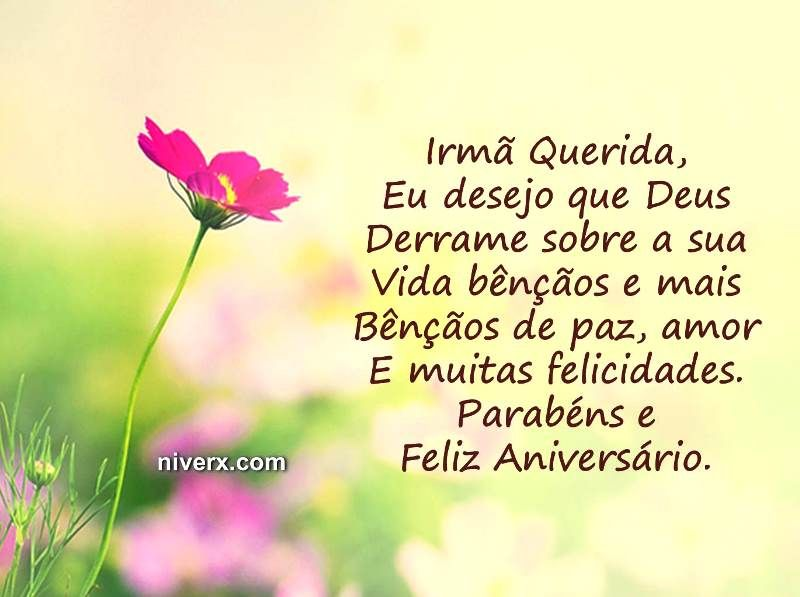 Feliz Aniversário Irmã Celular Whatsapp Facebook C42 Imagem 2