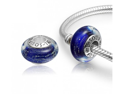 5c723a1cd8bf ... low price dark blue water wave murano glass bead charm 925 sterling silver  pandora compatible 737ae