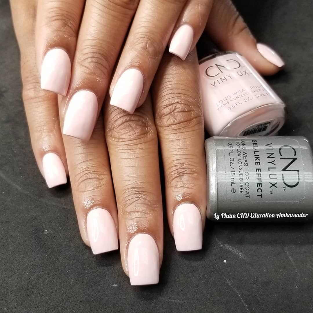 Cnd Acrylic Nails With Vinylux In Candied With Cnd Vinylux Gel Like Effect Too Coat A Plumping Top Coat With Gel Like Shine Nails Acrylic Nails Cnd Vinylux