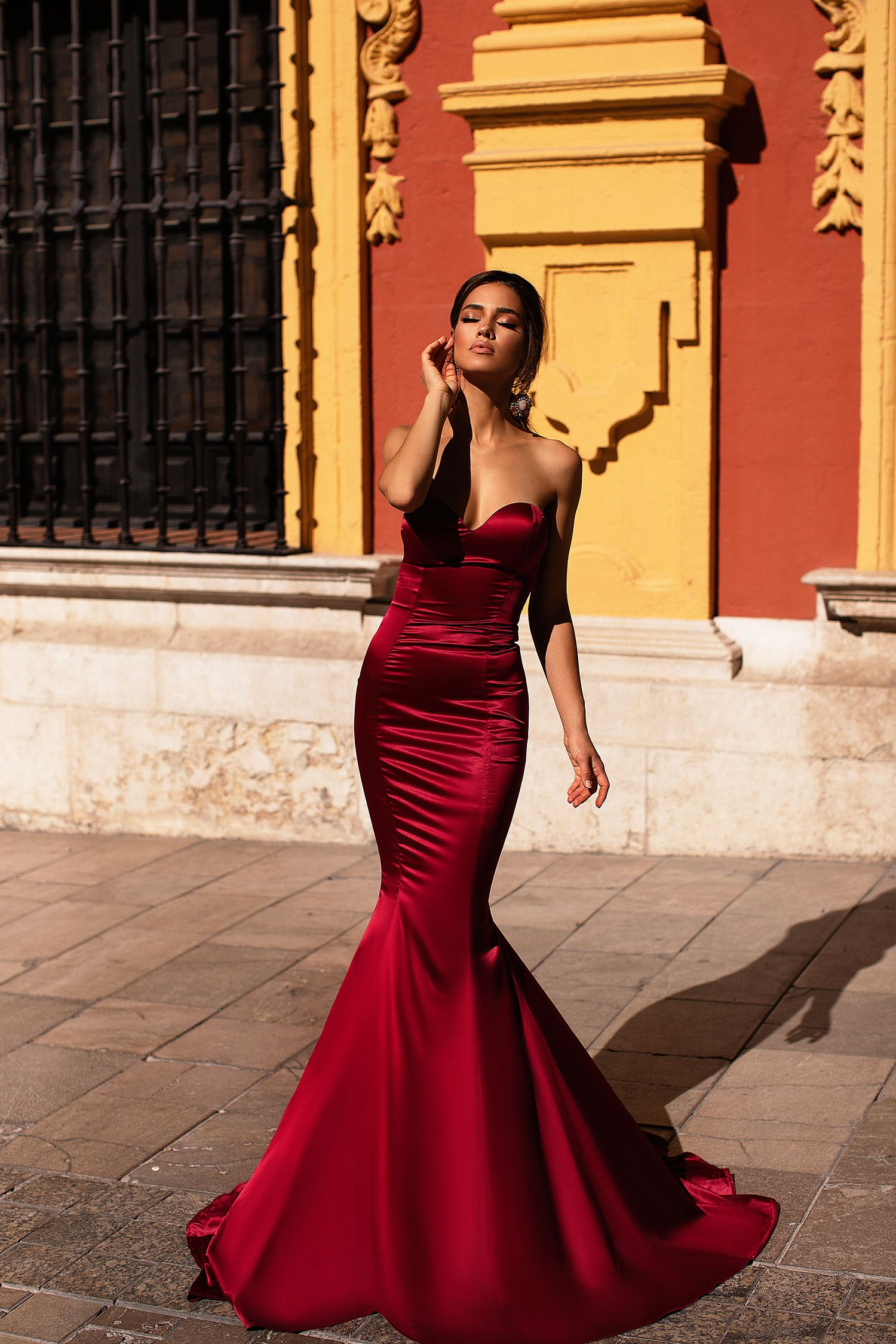355a3ca27e4a9 Emely - Wine Red in 2019 | Seville Collection | Prom dresses ...