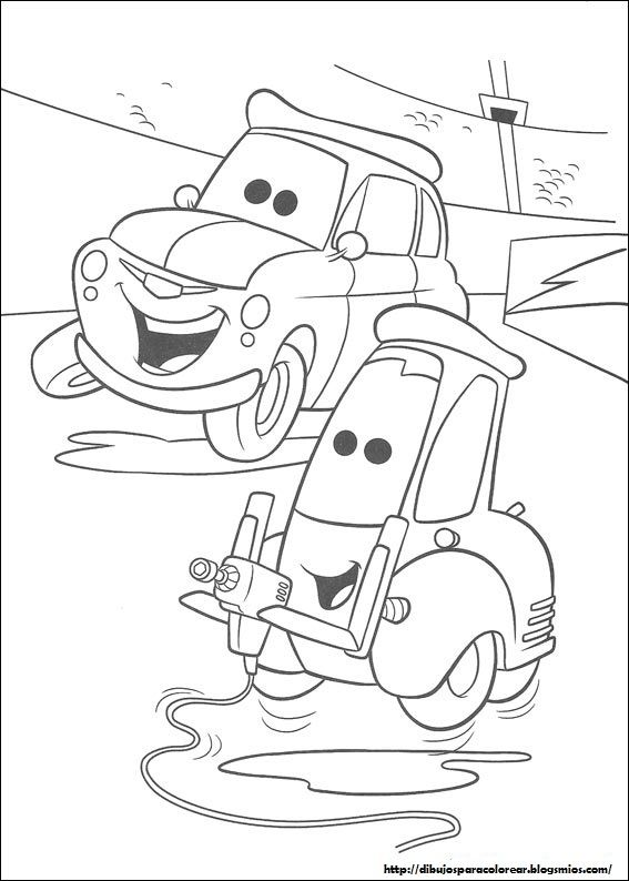 Coloring pages of The Cars 9 | Fonts & Printables | Pinterest ...