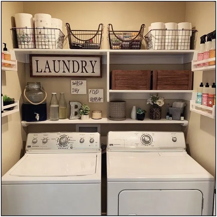 105 Small Rustic Laundry Room Ideas We Love Cynthiapina Me Rustic Laundry Rooms Laundry Room Remodel Laundry Room Organization Storage