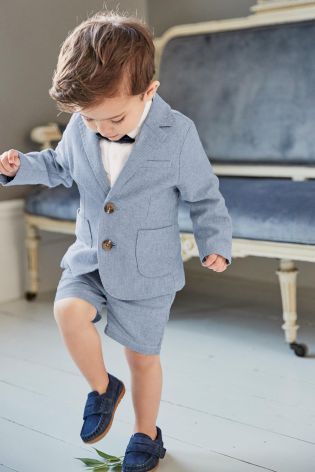 9f488efba6f7 Buy Blue Blazer, Shirt And Short Set (3mths-6yrs) from the Next UK online  shop