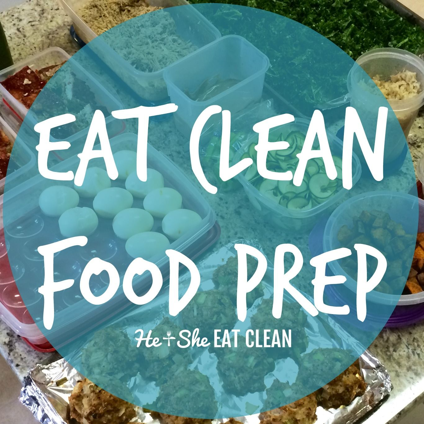 Need a little inspiration for your food prep? Take a look at this clean eating food prep & start your week off right! Eat Clean Food Prep | He and She Eat Clean
