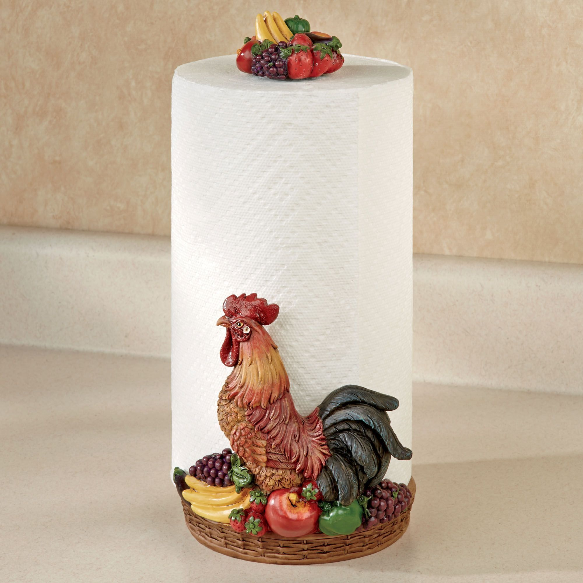 Rooster Medley Paper Towel Holder | Paper towel holders and Paper towels