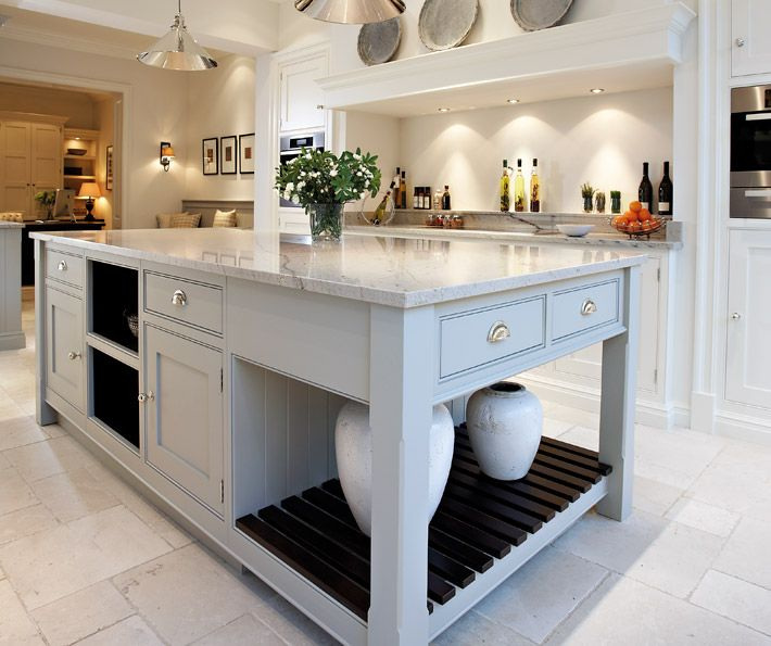 Contemporary White Shaker Kitchen contemporary shaker kitchen - bespoke kitchens - tom howley