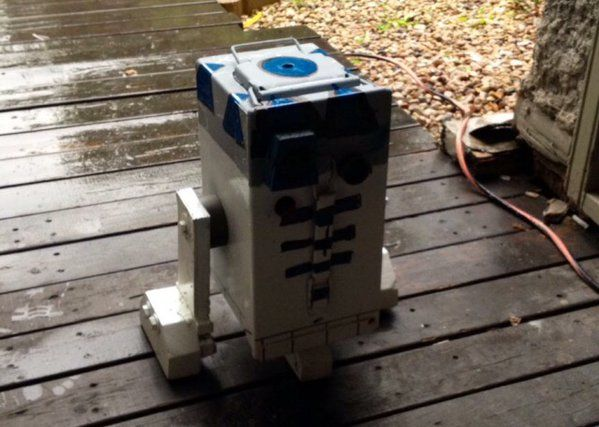 If this isn't a geocache, it needs to be! Turning an ammo can into R2-D2 from Star Wars.  #IBGCp