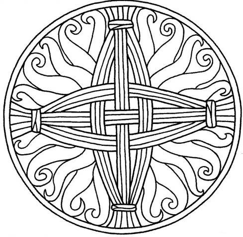Brighid\'s cross pattern. | Imbolc | Pinterest | Fastenzeit