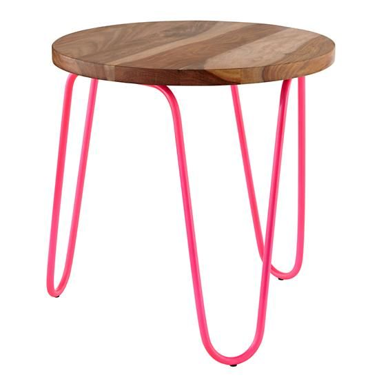 Neon Nightstand Hot Pink The Land Of Nod Neon Furniture