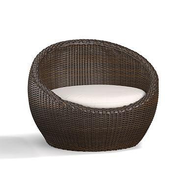 Torrey All Weather Wicker Papasan Chair   Espresso #potterybarn