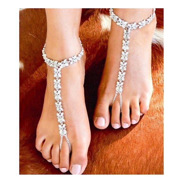 Bohemian Wedding Foot Jewelry for the Bride Beach Barefoot Wedding