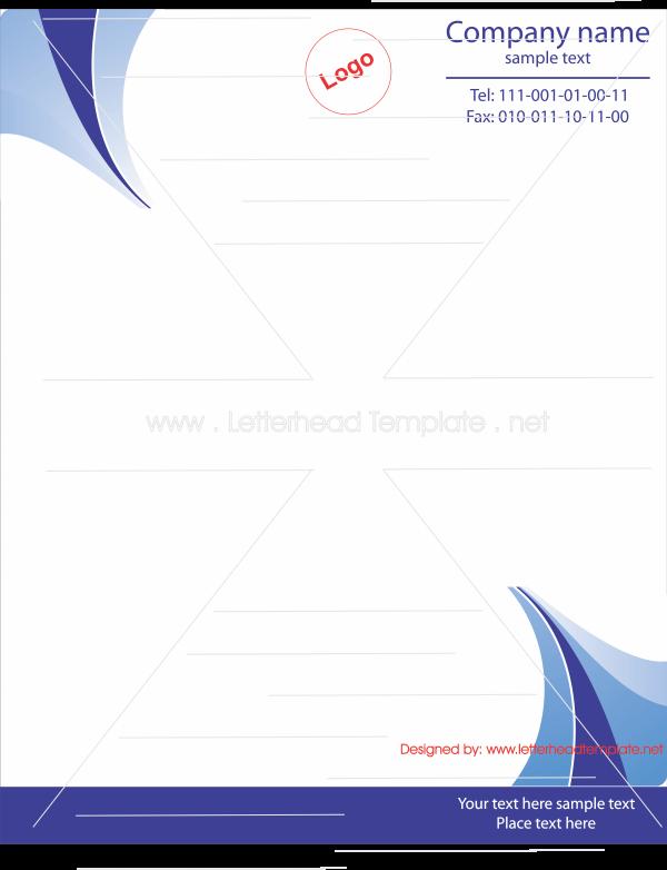Bluish Letterhead Template Free Letterhead Templates