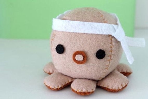 Patterns Felt Octopus Plush by typingwithtea on Etsy, $3.99