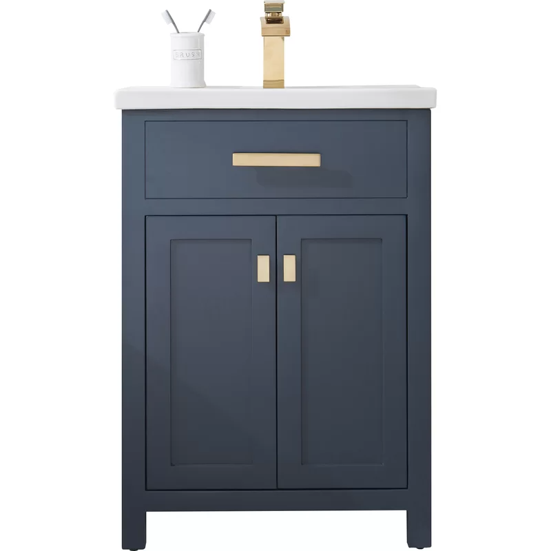 Zipcode Design Knighten 24 Single Bathroom Vanity Set Reviews Wayfair Small Bathroom Vanities Single Bathroom Vanity Small Bathroom