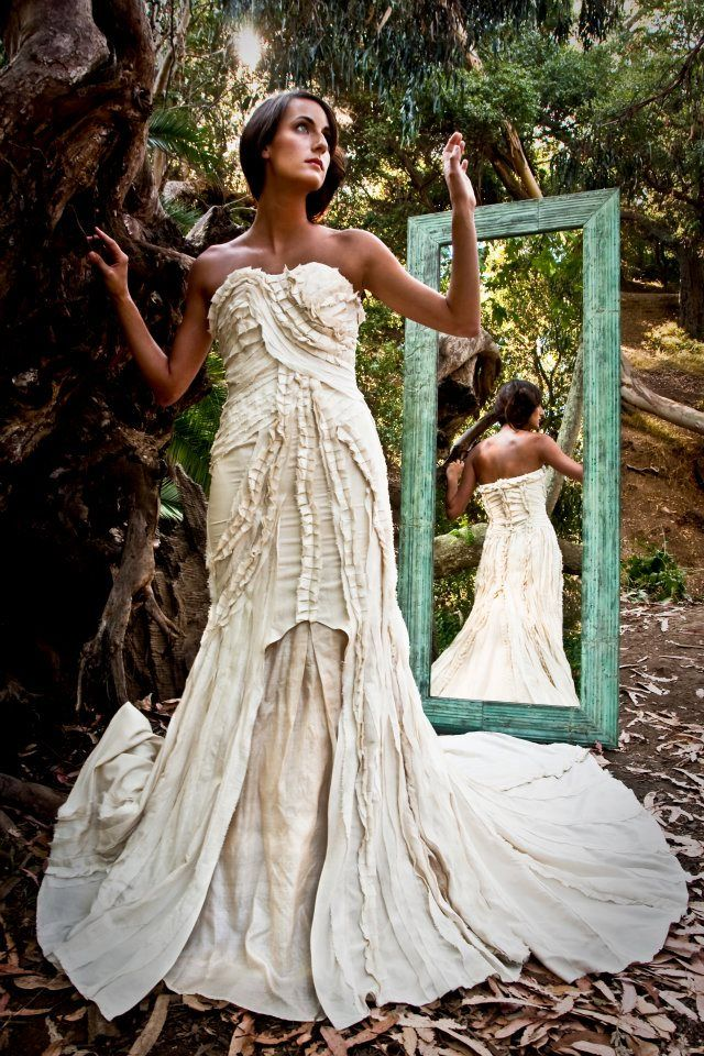 Eco Friendly Wedding Dress from Lindee Daniel on www.DressSafari ...