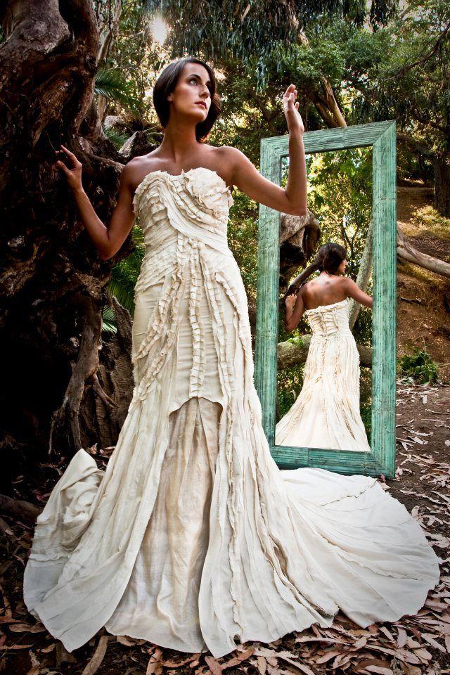 Eco Friendly Wedding Dress from Lindee Daniel on www.DressSafari.com ...