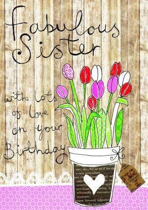 A Fabulous Sister Birthday Card