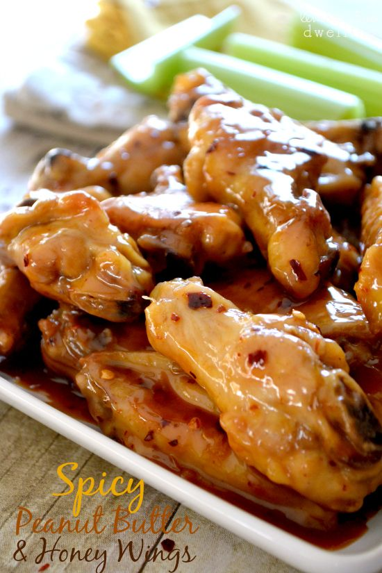 Spicy Peanut Butter & Honey Chicken Wings {Pick 'n Save Wing Madness} | Lemon Tree Dwelling