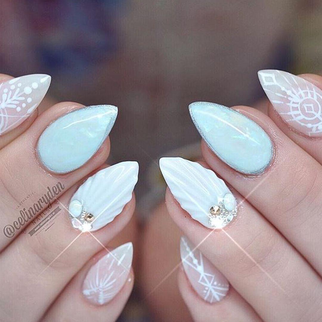 Mermaid inspired nails | Mermaid Nail Art | Pinterest | Diseños en ...
