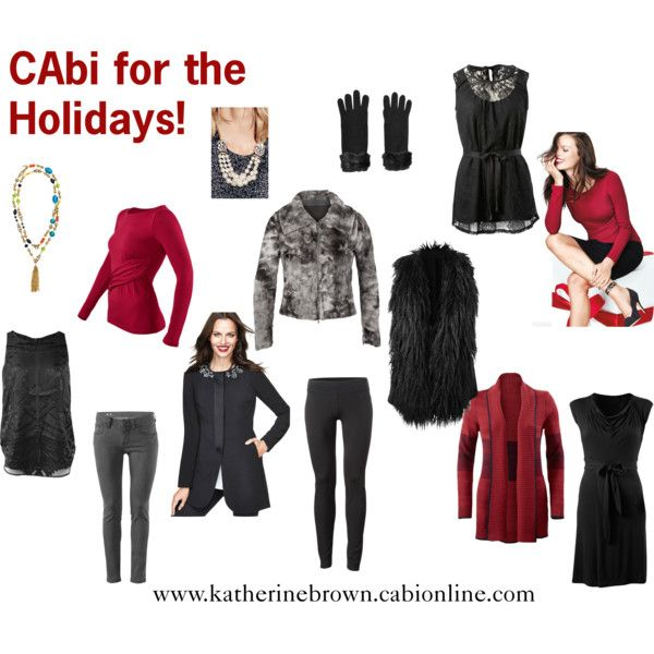 """CAbi for the Holidays"" by kbrownfashion on Polyvore"