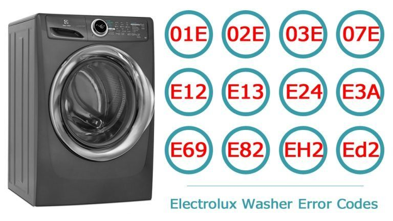 Electrolux Washer Error Codes Washer And Dishwasher Error Codes And Troubleshooting Electrolux Washer Electrolux Error Code