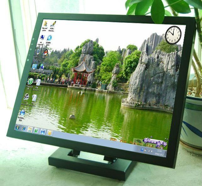 17 Inch Wide Lcd Panel Pc Touch Screen Monitor With Stand Oem Lcd Touch Screen Lcd Panels System Monitor Lcd