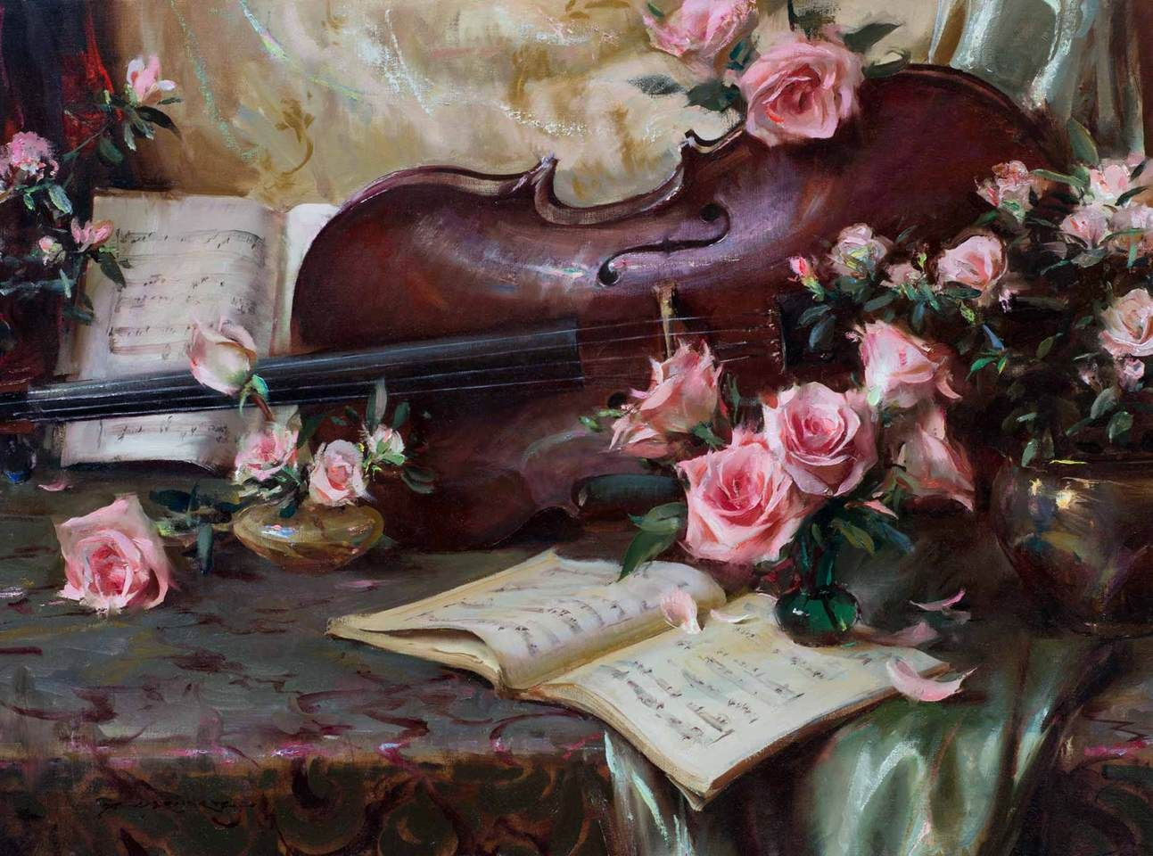 Dan gerhartz is known for his romantic painterly still lives often dan gerhartz is known for his romantic painterly still lives often featuring beautiful flowers izmirmasajfo Image collections