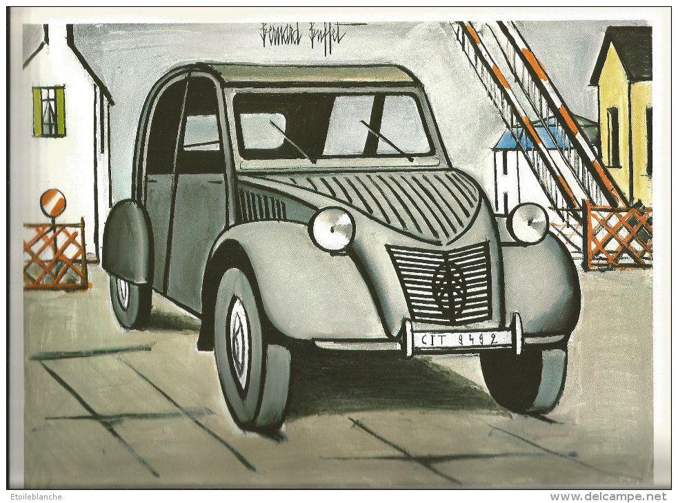 bernard buffet  1984  voiture 2 cv citroen