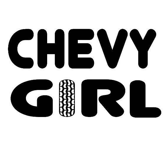 Chevy Girl Vinyl Decal Sticker Chevy Girl Chevy Vinyl Decals