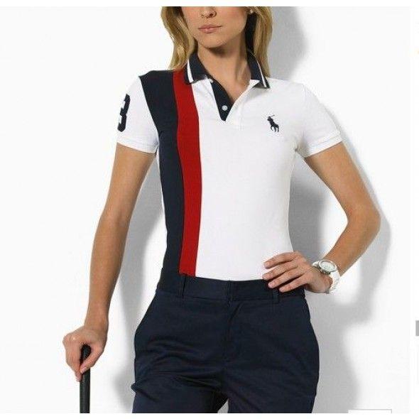 Ralph Lauren Pony Women Short Sleeved Polo Red Black White http    72722bff51