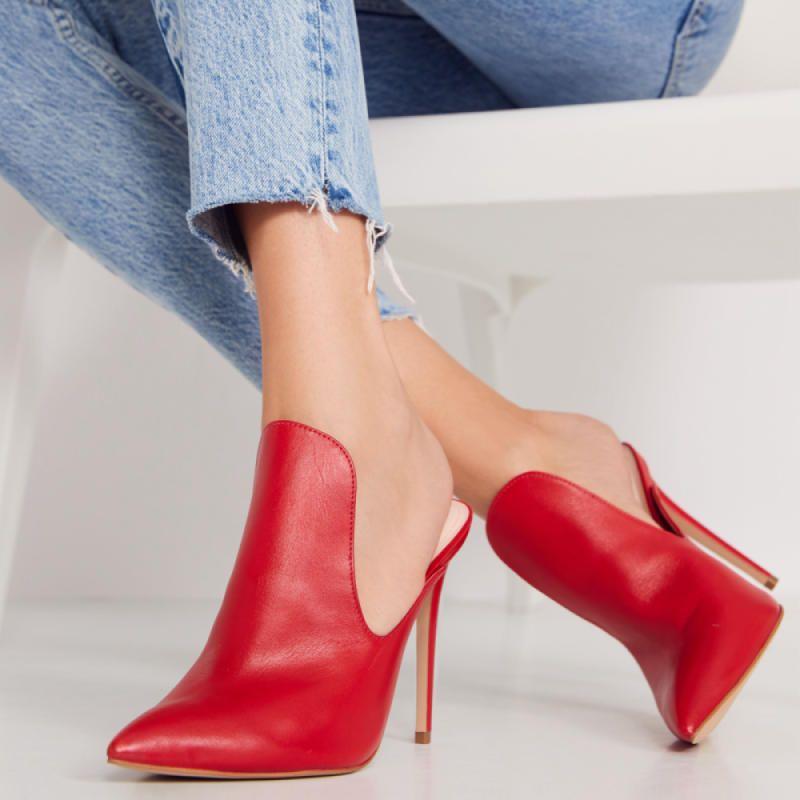 Tenno Red Mules | Heels, Stiletto heels