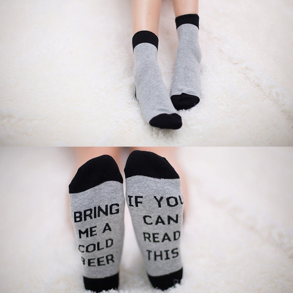 Fuzzy Socks Bapar Unisex Funny Saying Knitting Word Combed Cotton Crew Coffee Socks For Men Women 1 Pair Continue To The Pro Fuzzy Socks Combed Cotton Women