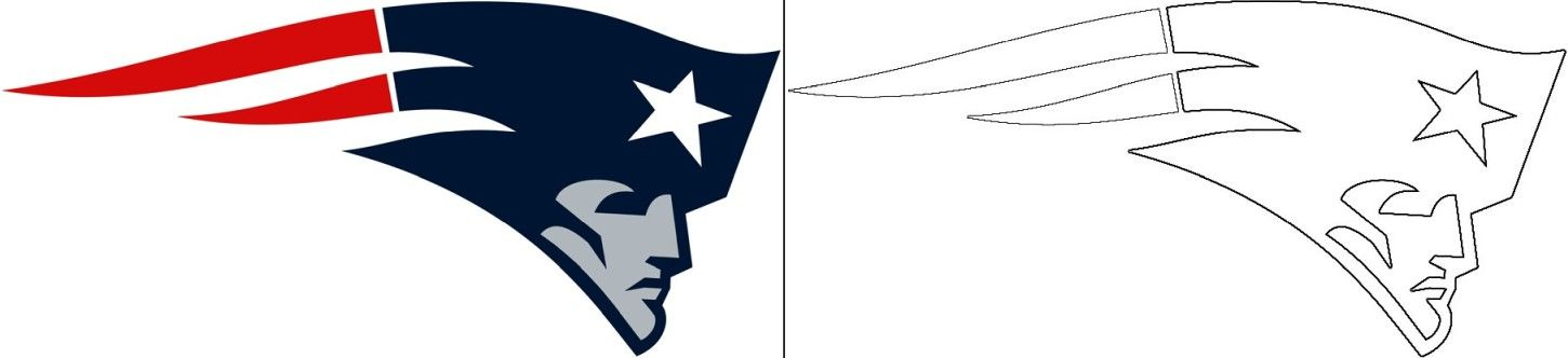 Patriots Logo Coloring Page In 2020 New England Patriots Logo