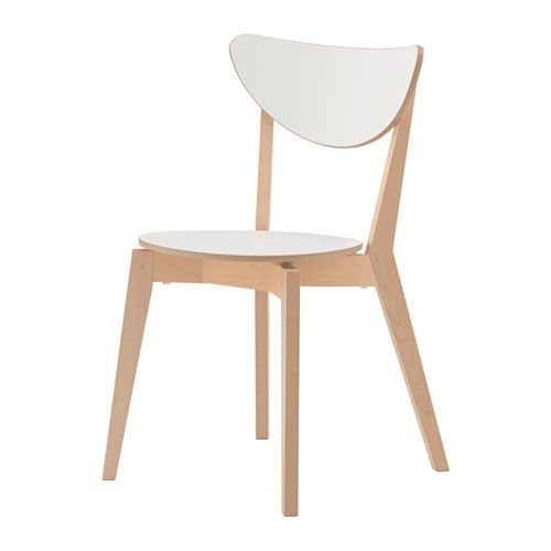 NORDMYRA Chair, white, birch   Spaces, Flats and Dining chairs