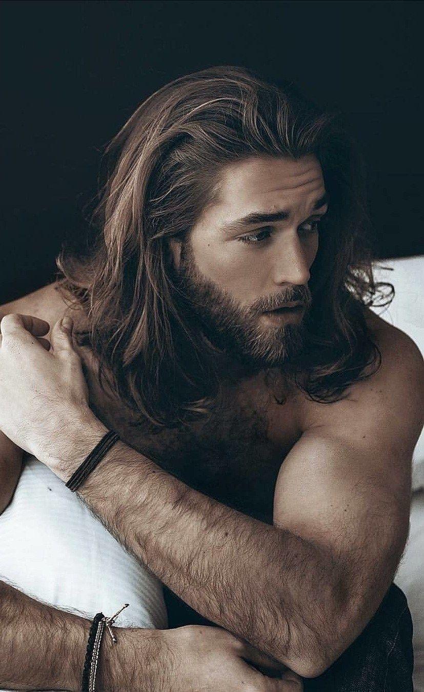 Short Beard And Long Hair Hair And Beard Styles Long Hair Beard Beard Hairstyle