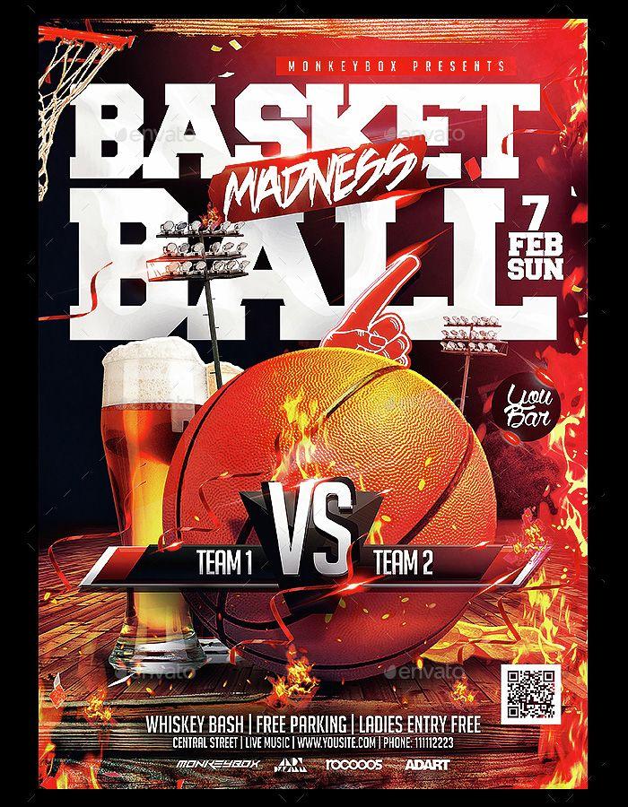 Abasketballflyer Flyer Templates Pinterest Psd Templates - Basketball flyer template free