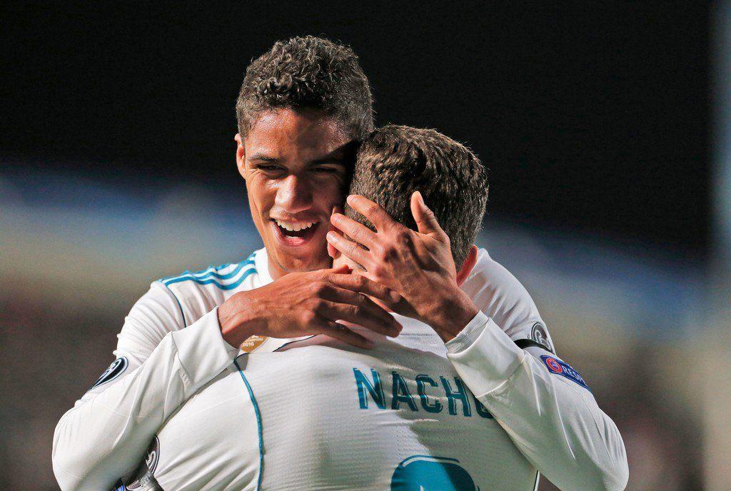 Raphaël Varane & Nacho. #UCL | Real madrid photos, Raphael varane, Real madrid