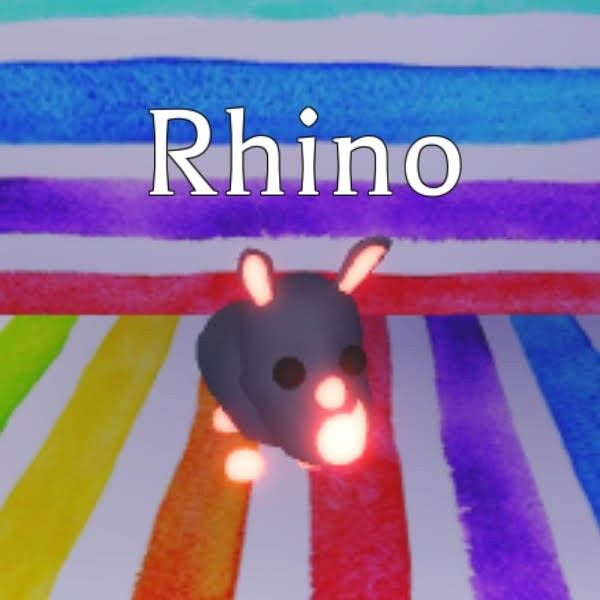 Neon Rhino In 2020 Hello Wallpaper Neon Pet Adoption
