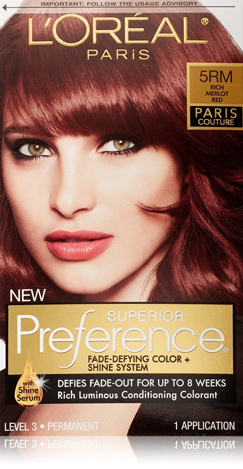 Loreal Paris Superior Preference Hair Color 5rm Rich Merlot Red
