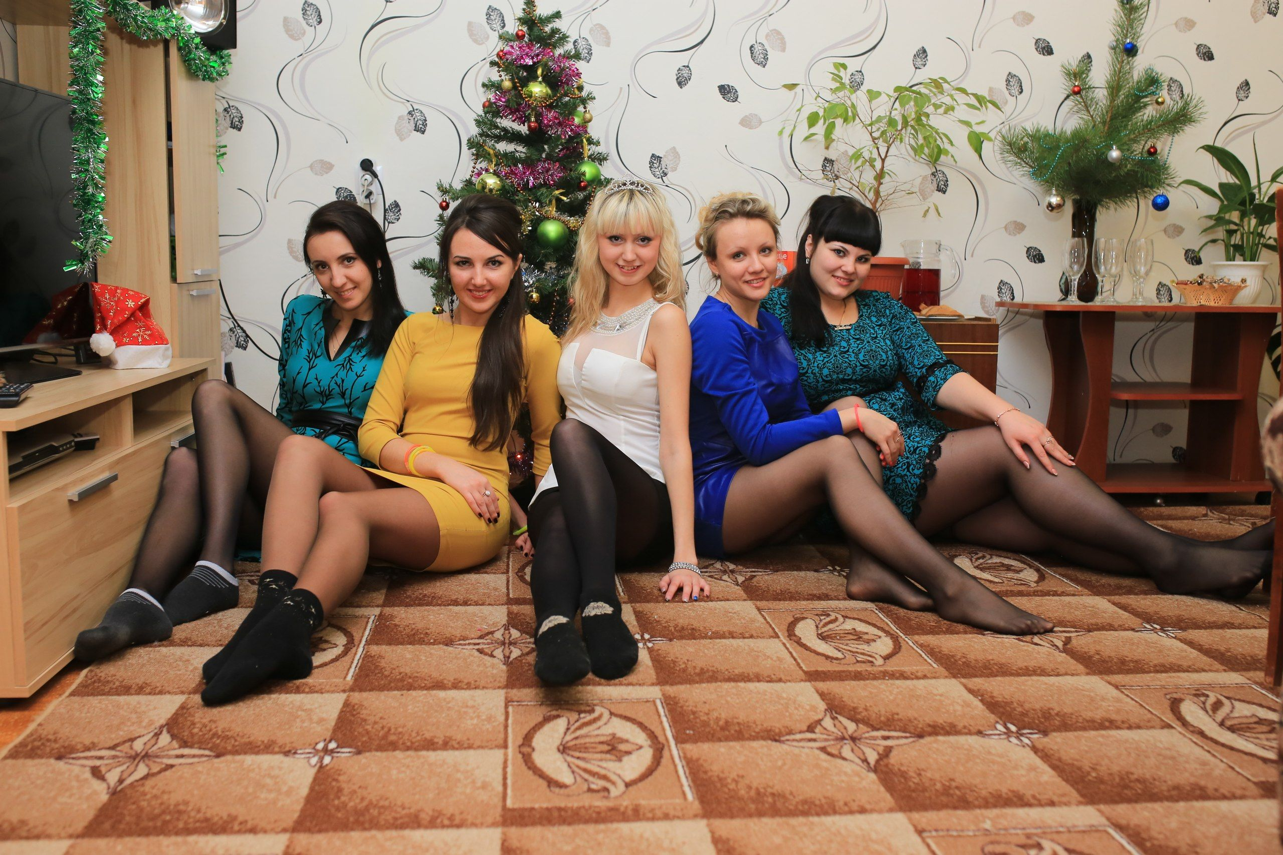 Party of five pantyhose