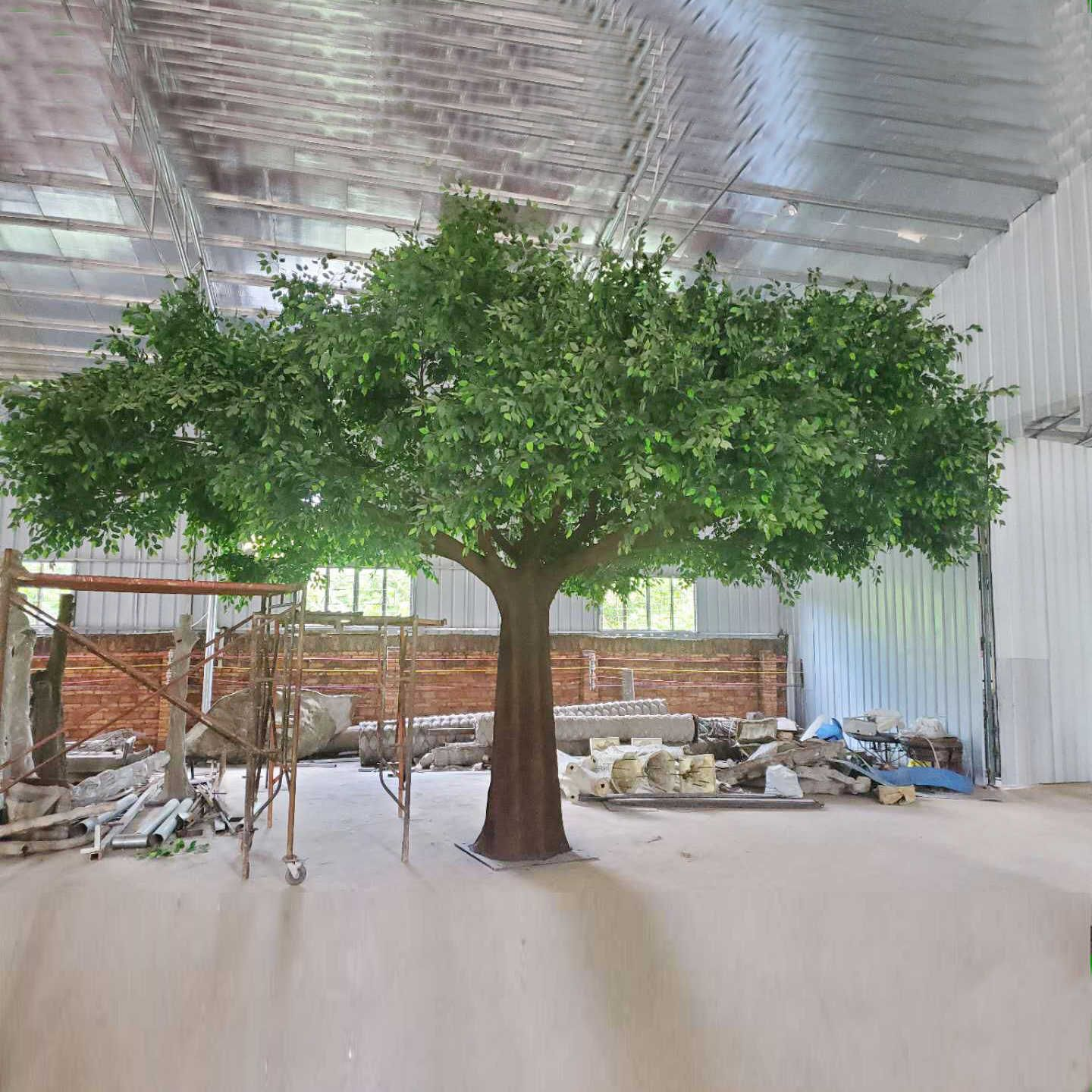 Life Size Cheap Landscape Decor Artificial Big Trees Plastic Fake Banyan Leave In 2020 Artificial Trees Shade Trees Artificial Plants And Trees