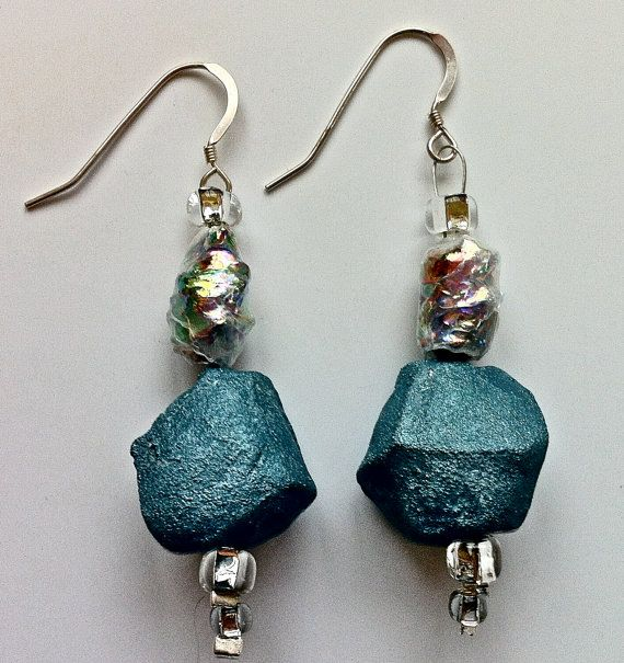 Papier Mache Earrings 3 By Hilarybravo On Etsy 30 00 Paper Bead Jewelry Paper Jewelry Jewelry Crafts
