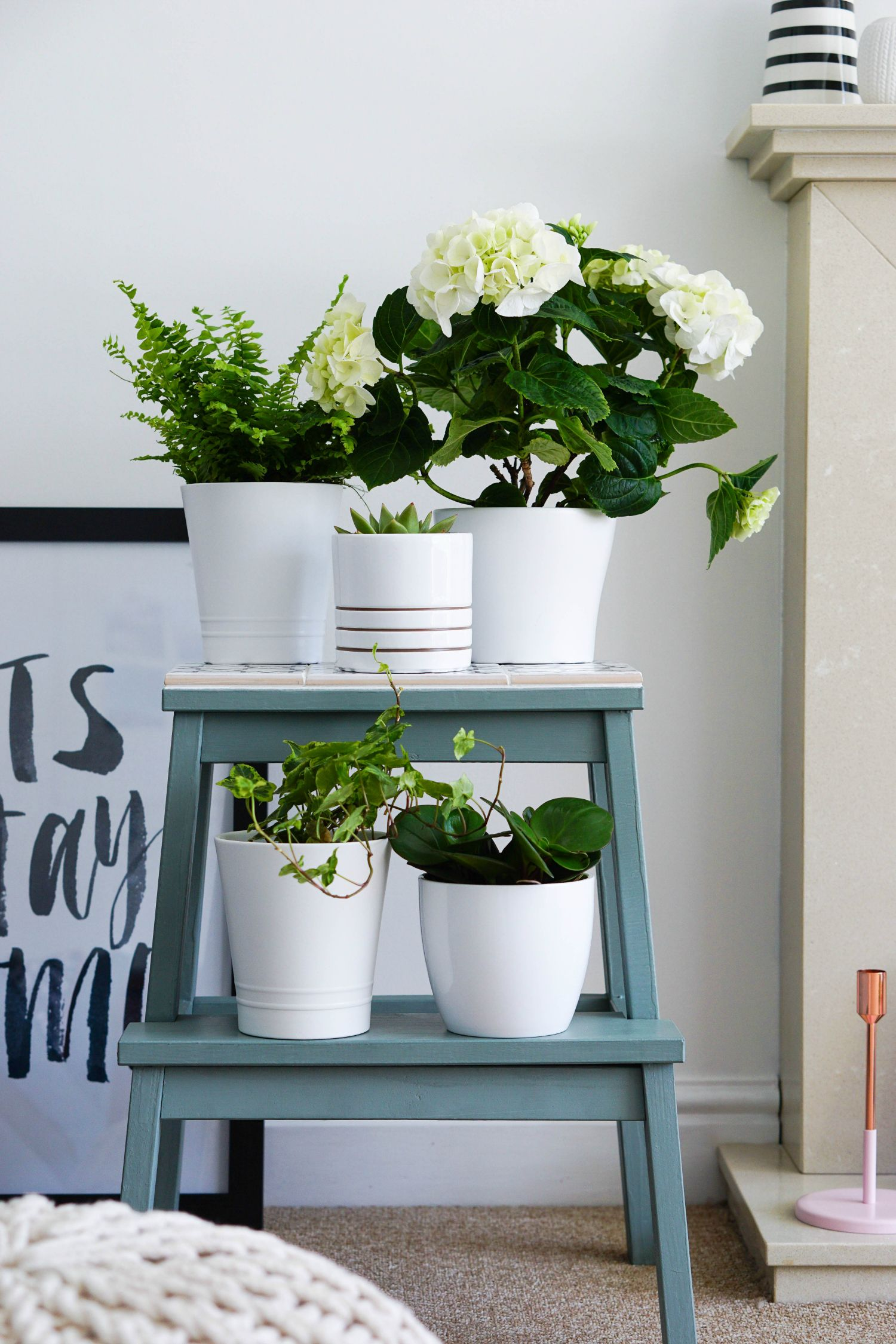 Ikea Hack From Simple BekvÄm Step Stool To Pretty Perfect Plant Stand